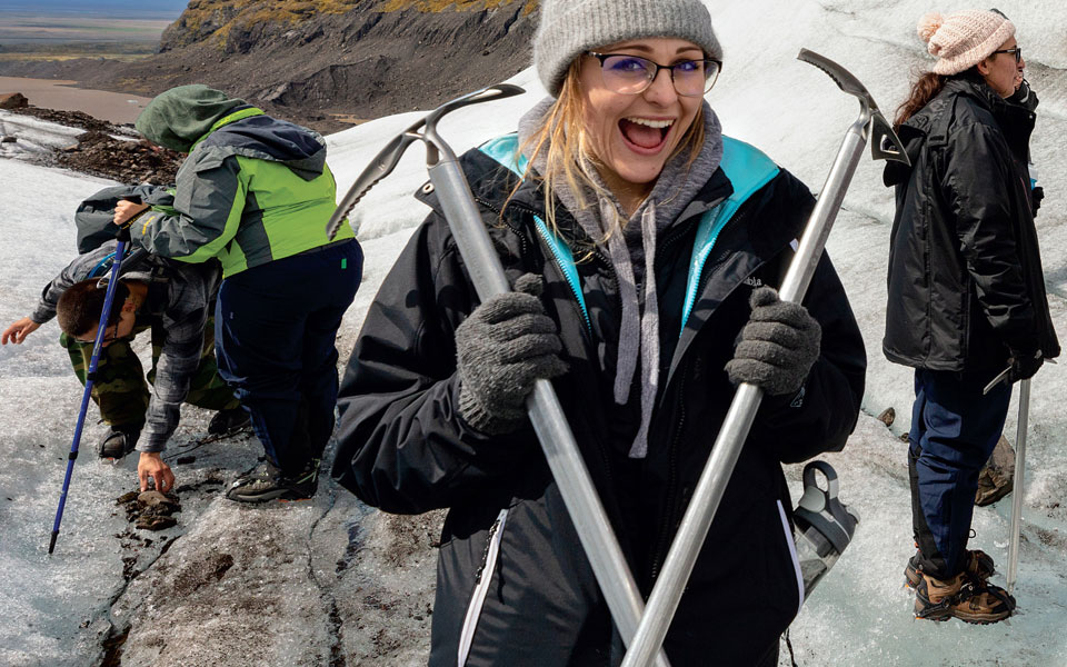 Awesome Opportunities - Students and faculty on an expedition in Iceland
