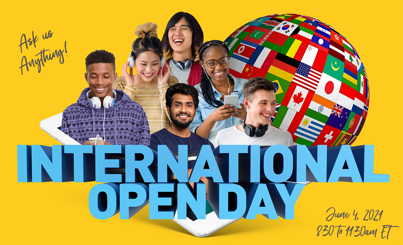 International Open Day - June,4 2021 - 8:30 to 11:30am EDT