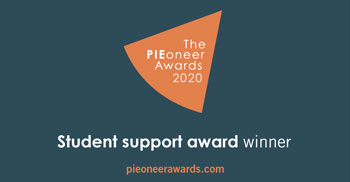 The PIEoneer Awards 2020 - Student support award finalist