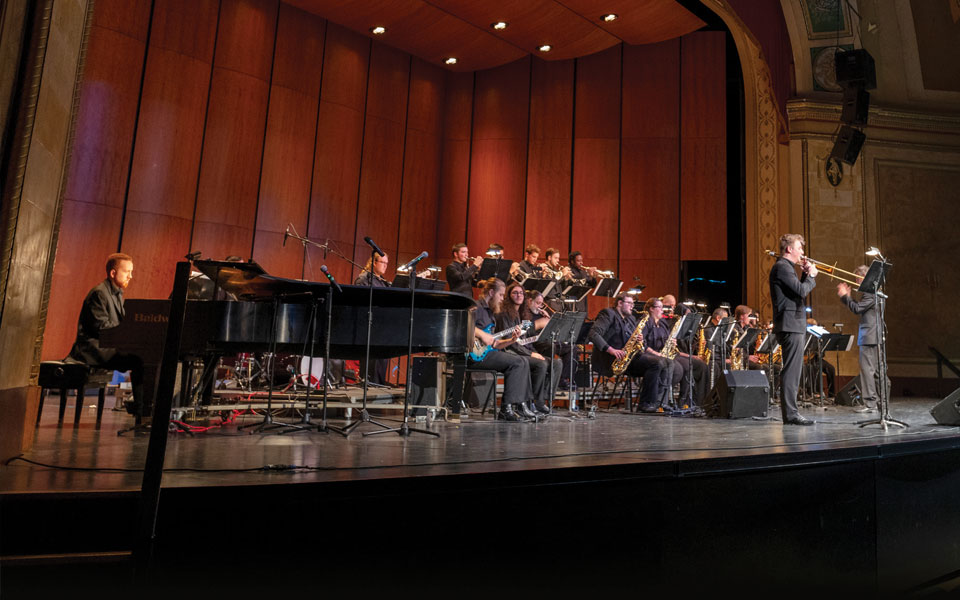 Music students performing in concert