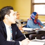 Multi-cultural students in class